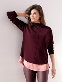 Pullover mit Bluseneinsatz