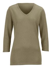 Pullover mit Rollkante am Ausschnitt
