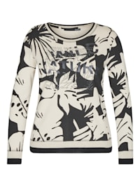 Shirt mit floralem Muster und langen Ärmeln