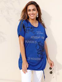 Shirt mit glänzenden Folienprints