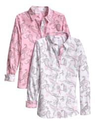 Blusen im 2er-Pack mit modischem Paisleymuster