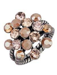 Dámsky prsteň s kryštálikmi
