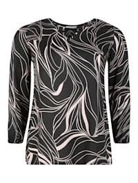 Bluse mit Allover-Print