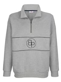 Sweatshirt met borduursel voor