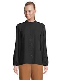 Langarm-Bluse mit Plissee Falten