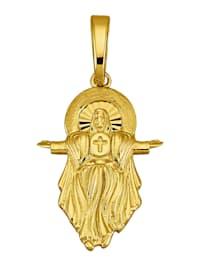 Hänge med Jesussymbol i 9 k guld
