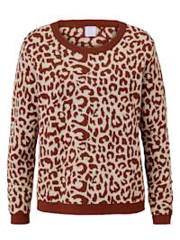 Pullover mit Leomuster
