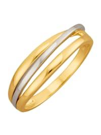 Ring i gult och vitt guld 14 k