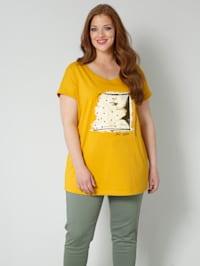 Shirt mit farbigen Dekosteinchen