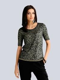 Shirt met animalpatroon in nieuwe stijl