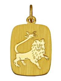 Sternzeichen-Anhänger, Löwe in Gelbgold 333
