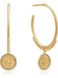 Ania Haie Damen-Creolen Emperoe Hooü Earring 925er Silber