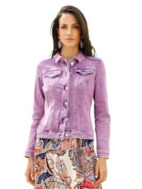 Jeansjakke i used look