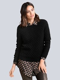 Pullover allover im effektvollen Strukturstrick