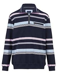 Sweatshirt mit Streifendessin rundum