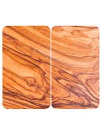 Set van 2 afdekplaten Chalet in wortelnotenhoutlook