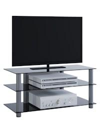 TV Möbel Rack Alu Glas Netasa