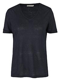 "Veganes Basicshirt Modell ""Imke"" aus Leinen"