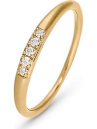 CHRIST Damen-Damenring 5 Diamant