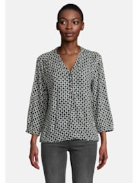 Casual-Bluse mit Muster Muster