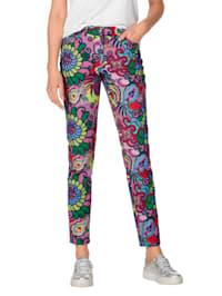 Pantalon à motif multicolore allover