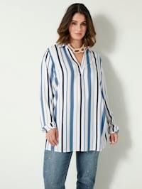 Bluse mit streckendem Streifenmuster