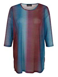 Dlouhé tričko v mírně transparentní kvalitě
