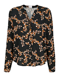Bluse in floralem Druckmuster