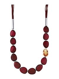 Halskette mit Velour
