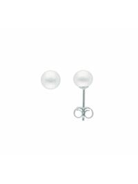 Damen Silberschmuck 925 Silber Ohrringe / Ohrstecker mit Süßwasser Zuchtperle