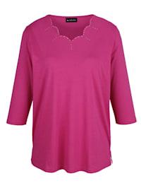 Shirt met trendy hals
