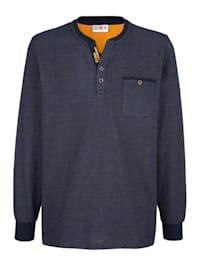 Tričko s praktickým náprsným vreckom