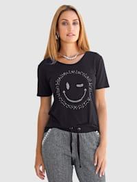 Shirt mit zwinkerndem Smiley