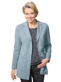 Jersey blazer in verzorgde gemêleerde look