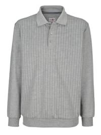 Sweatshirt med tryckt mönster fram