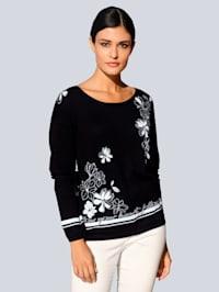 Pullover im eklusiven Alba Moda Print