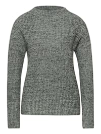Pullover in Mouliné