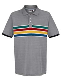 Poloshirt met streeppatroon voor