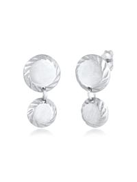 Ohrringe Ohrhänger Plättchen Disc Rund Glanz 925 Silber