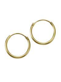 Creolen 585/- Gold 1,3cm Glänzend 585/- Gold