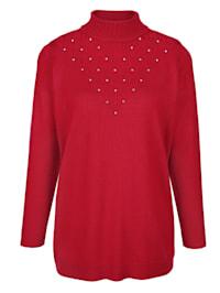 Pullover mit streckendem Strickmuster
