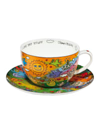 Tee-/ Cappuccinotasse James Rizzi - I Love Sky Stuff