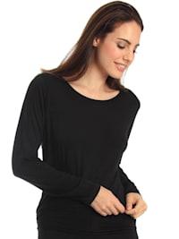 Rundhals Shirt langarm