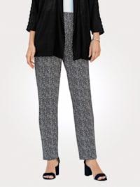 Kalhoty s letním puntíkovým vzorem
