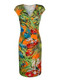 Strandkleid mit tropischem Blumendruck