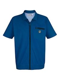 Jerseyskjorte med glidelås