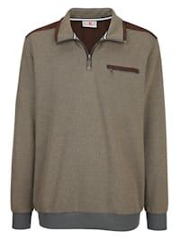 Sweatshirt med jacquardmönster