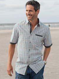 Overhemd in zomerse linnenlook