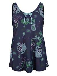 Plavky s módnym Paisley vzorom