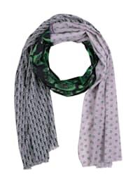 Sjaal met print rondom